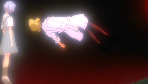 [EoE] Rei aparece em frente a Ritusko.