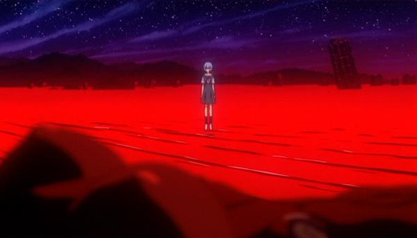 """[EoE] Rei aparece para Shinji em """"One more final: I need you""""."""