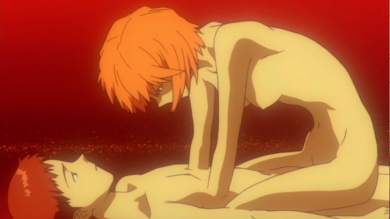 [End of Evangelion] Lilith por cima de Shinji.