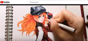 Desenhando Asuka em alto estilo #2
